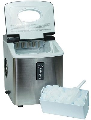 Igloo ICE103 Counter Top Ice Maker with a scoop of ice.